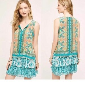 NEW Anthropologie MOANA SILK DRESS
